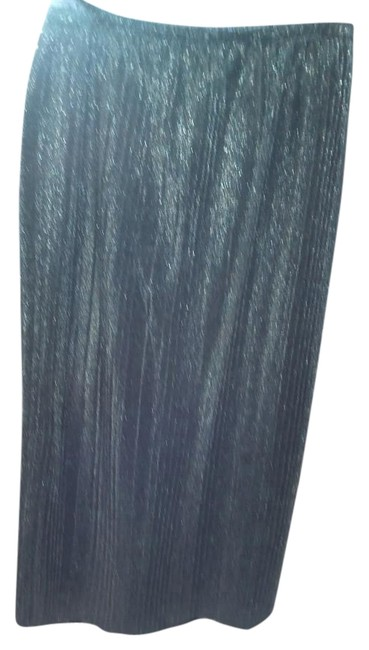 Item - Silver Pleated Perfect Skirt Size 14 (L, 34)