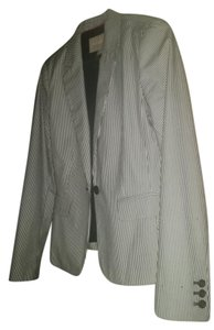 Banana Republic Black and White Seersucker Blazer