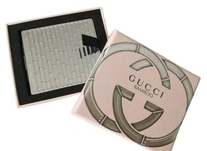 Gucci Gucci Bamboo Hand Held Silver Pocket Mirror