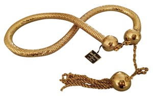 Whiting & Davis Gold Mesh Chain Belt