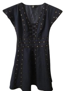 Zac Posen for Target short dress Navy & Black Trendy Snap Studded Fit To Flare Party on Tradesy