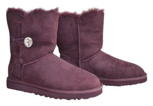 UGG Australia Ugg Swarovsky Crystal Sheepskin Shearling Winter Purple Boots