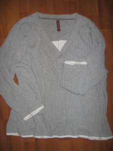 Gitano Top grey with white