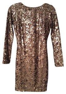 Dress the Population Sequin Longsleeve Low Back New Years Dress
