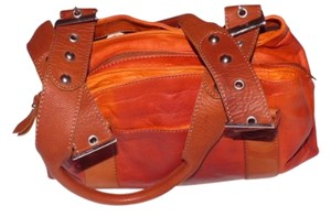 I Ponti Xl Style Satchel in orange & tan leather purse & multicolored wallet