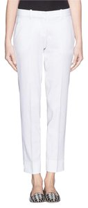 Theory White Suit Capri/Cropped Pants Ivory