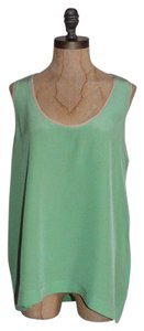 Joie Silk Sleeveless Top GREEN