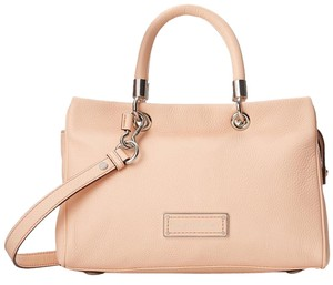 Marc by Marc Jacobs Too Hot To Handle Zip Pebbied Leather Satchel in Tropical Peach