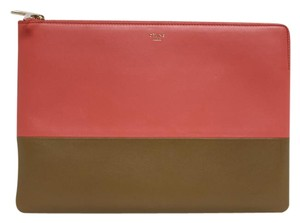 Céline Pink/Tan Clutch