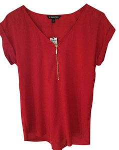 Express Zip-front Top Red