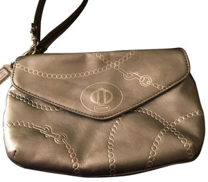 Coach Wristlet in Silver Metallic