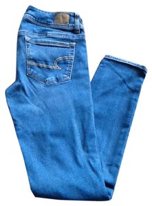 American Eagle Outfitters Slight Distressing Skinny Jeans-Medium Wash