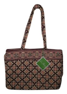 Vera Bradley Cotton Multi Color Maroon Tote in Maroon/Multi