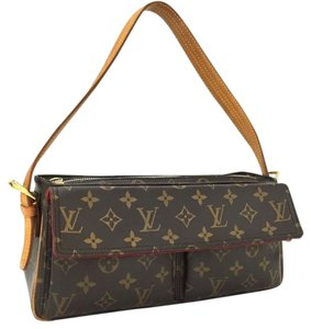 Louis Vuitton Red Suede Lining Shoulder Bag