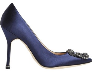 Manolo Blahnik Rich Navy Formal