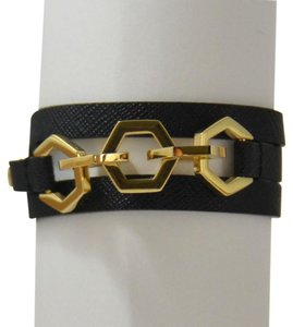 Tory Burch New Hexagon Leather Triple Wrap Bracelet