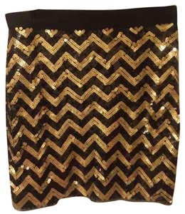 Michael Kors Mini Skirt Black / Gold