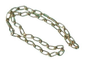 Tiffany & Co. Tiffany Gold Cable Wire Oval Chain Link Necklace