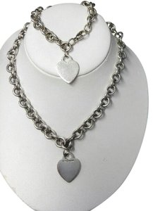 Tiffany & Co. Tiffany & Co Heart Tag Choker Toggle Necklace & Bracelet Set