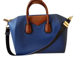 Givenchy Tote in Two Tone - Blue and Brown with black trim