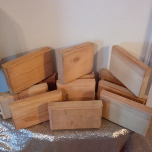 12 Thick Solid Wood Blocks ~ Use For Signs Or Table Numbers