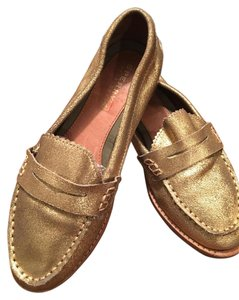 Sperry Very Jazzy Metallic Gold Slip-On Loafers Flats