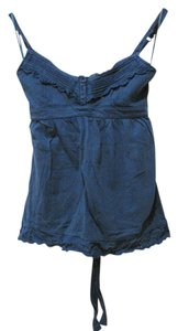 Aéropostale Lace Trim Summer Top Blue