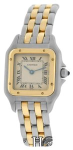 Cartier Mint Ladies Cartier Panthere 166921 Two Row Stainless Steel 22mm