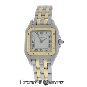Cartier Mint Ladies Cartier Panthere 1120 Two Row Stainless Steel 22mm Quartz