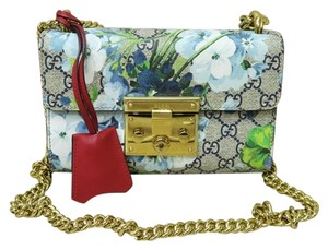 Gucci Like New Blooms Padlock Shoulder Bag