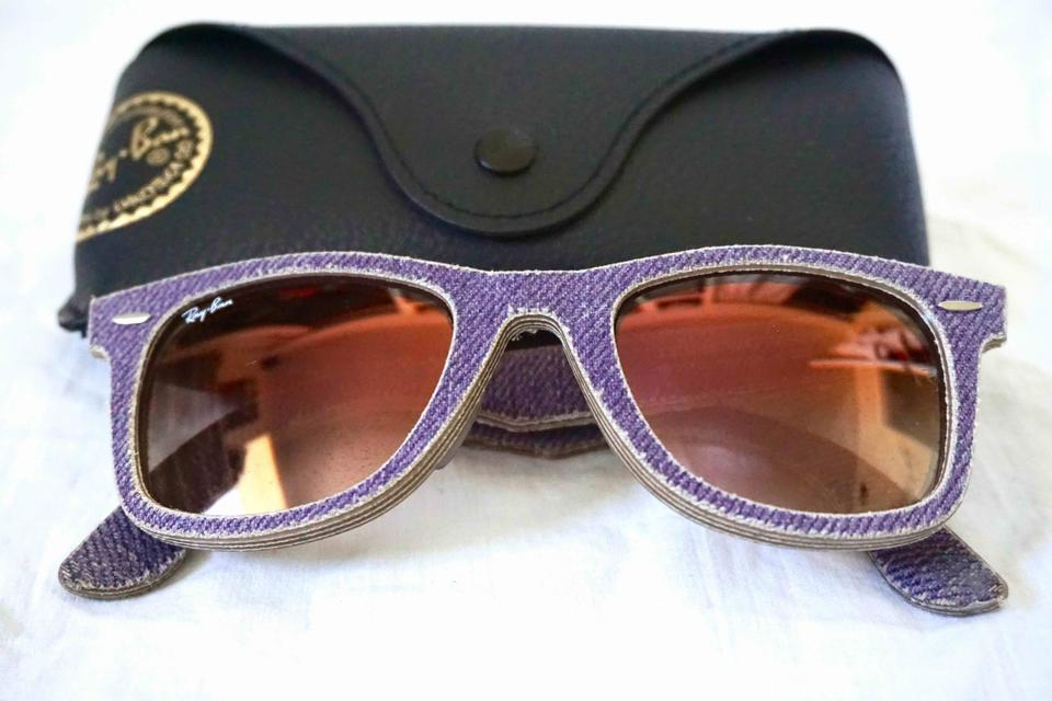 849dec71d599f Ray-Ban Purple Rb2140 F Denim Wayfarer 52mm Sunglasses - Tradesy