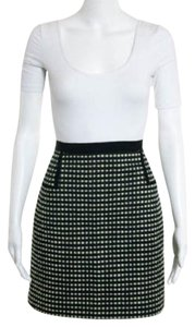 Jason Wu Tweed Mini Pockets Woven Mini Skirt Black & Green