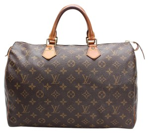 Louis Vuitton Lv Vintage Leather Tote in Brown