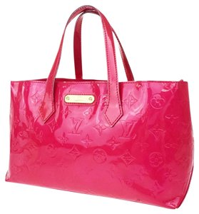 Louis Vuitton Vernis Keepall Speedy Reade Tote in Pink