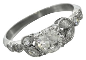 Other Antique Platinum Transition Round Brilliant Diamond Engagement Ring