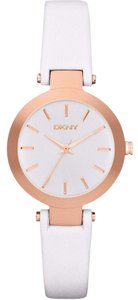 DKNY New DKNY Women's Rose Gold Tone White Leather Watch NY8835