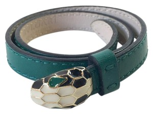 BVLGARI Bvlgari Serpenti Leather Wrap Around Bracelet