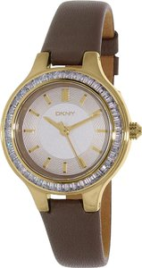 DKNY DKNY Women's Chambers Three Hand Leather Watch NY2432