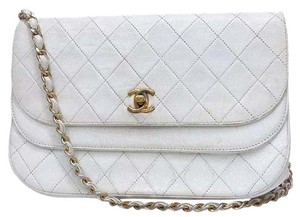 Chanel Double Flap Lambskin Handbag Cross Body Bag