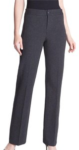 NYDJ Ponte Knit Straight Leg Straight Pants Charcoal Gray