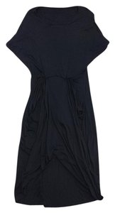 AllSaints Black Draped Waist Dress
