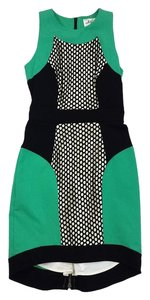 MILLY short dress Green Black & White Eyelet on Tradesy
