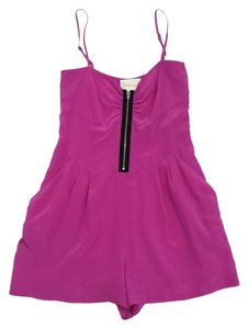 Yumi Kim Fuchsia Spaghetti Strap Silk Dress