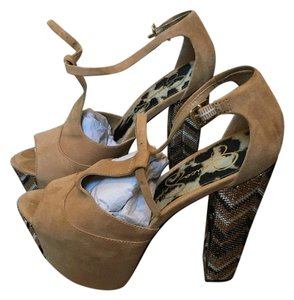 Jessica Simpson Dany Suede Glitter Khaki (suede) Platforms