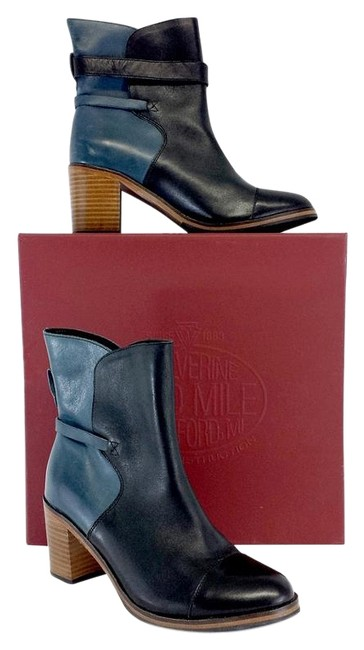 Item - Blue Black Boots/Booties Size US 7.5