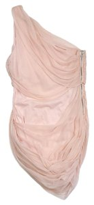 Alice + Olivia short dress Pink Draped Chiffon on Tradesy