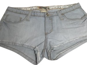 YMI Jeans Cut Off Shorts Blue white