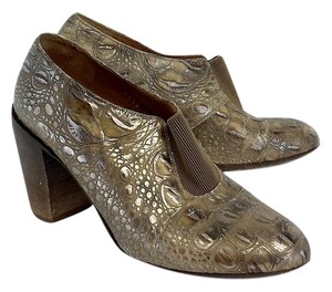 Dries van Noten Gold Silver Reptile Leather Boots