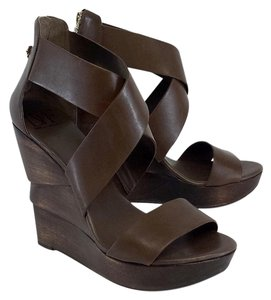 Diane von Furstenberg Brown Leather Opal Wedges