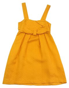 See by Chlo short dress Yellow Silk Cotton Textured on Tradesy